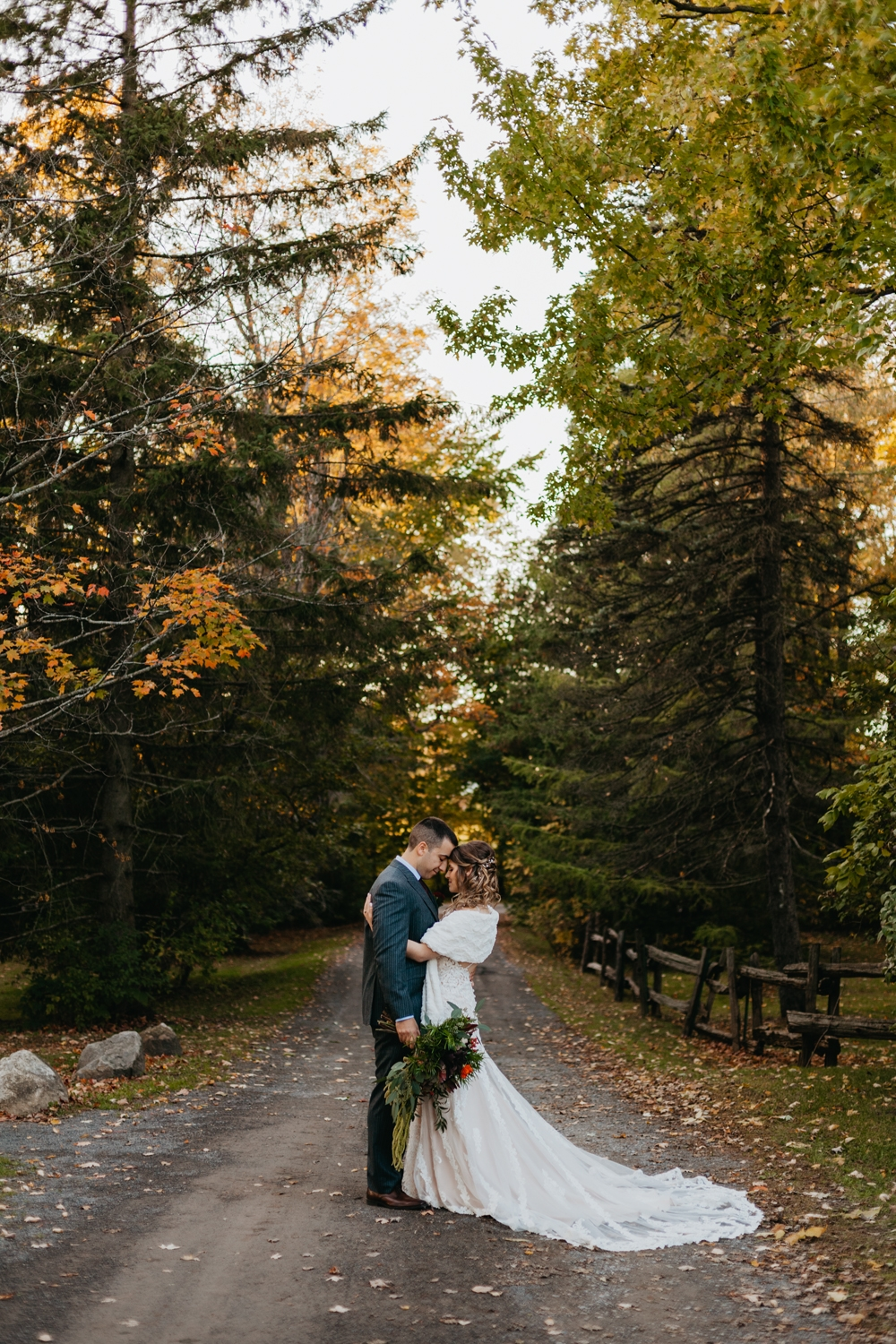 Couple Fall Wedding