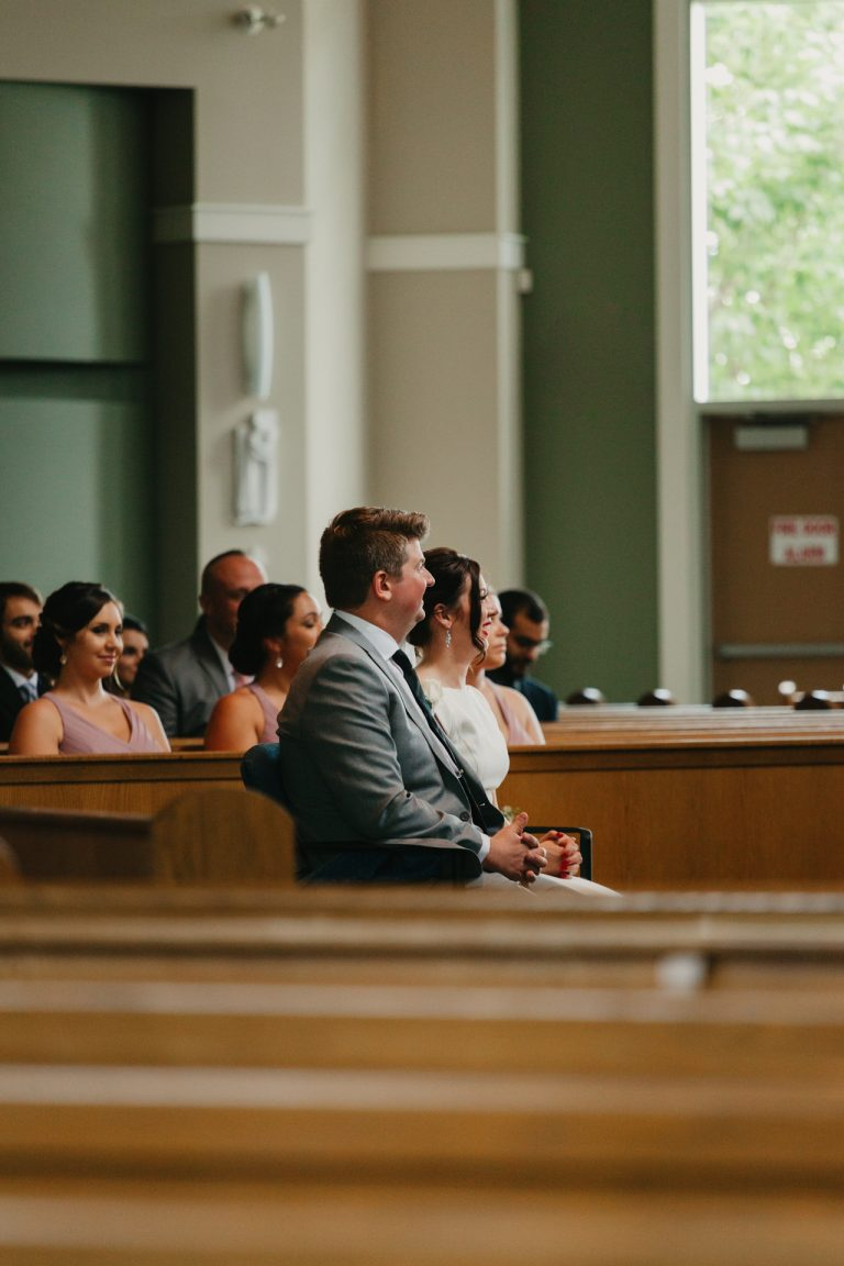 photo of couple during the ceremony