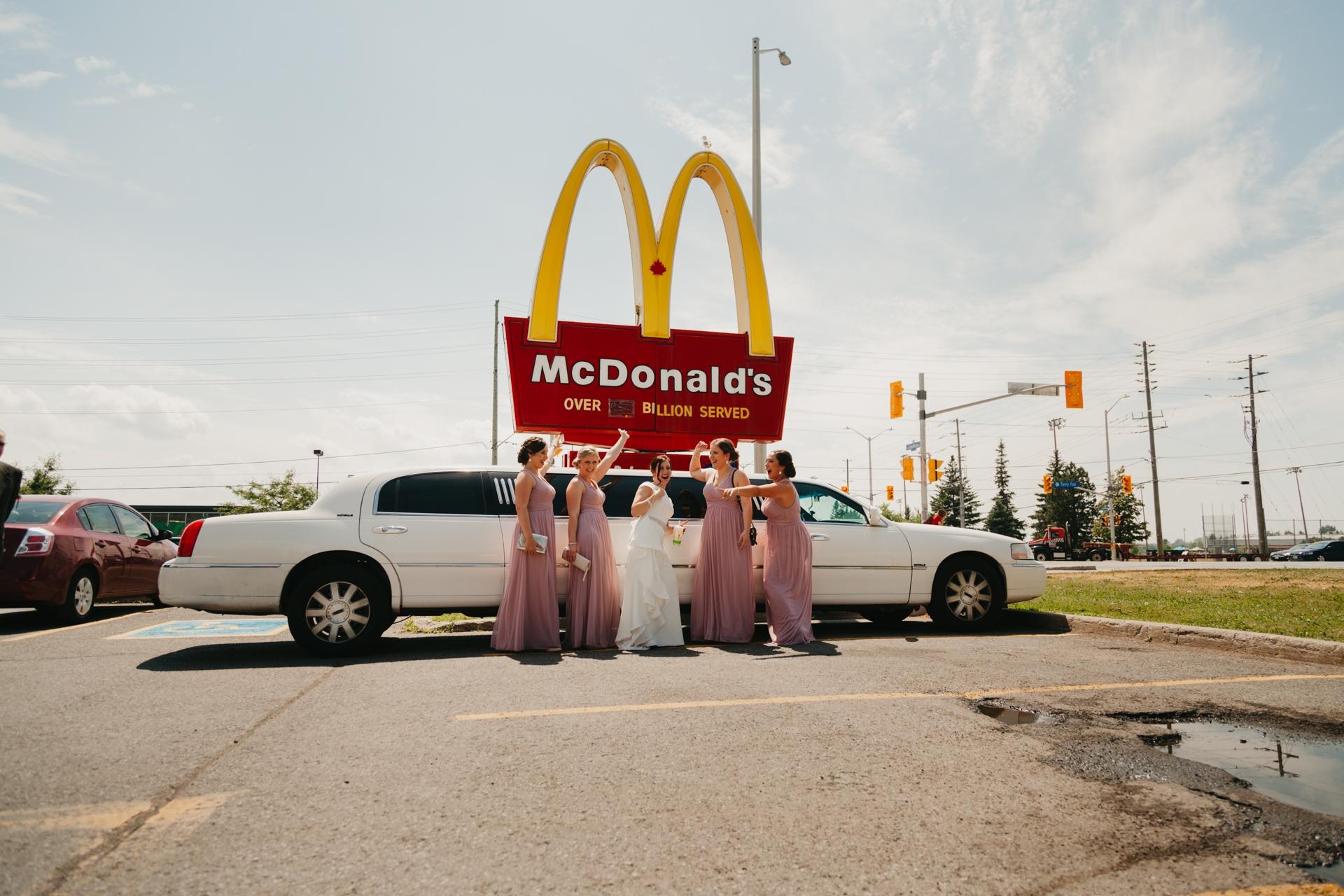 bridal party stop at mcdonalds
