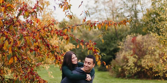 Colourful Fall Engagement Session - Stephanie & Josh