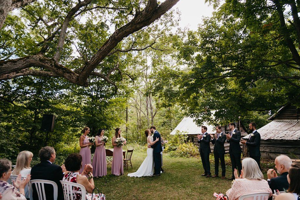 Backyard Wedding. Lakefield Ontario Intimate Backyard Wedding Photographer