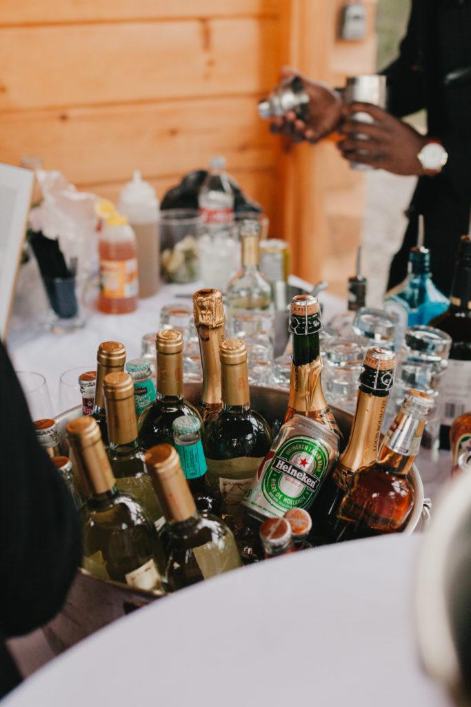 Wedding Bar & drinks. Intimate Ottawa Wedding Photographer.