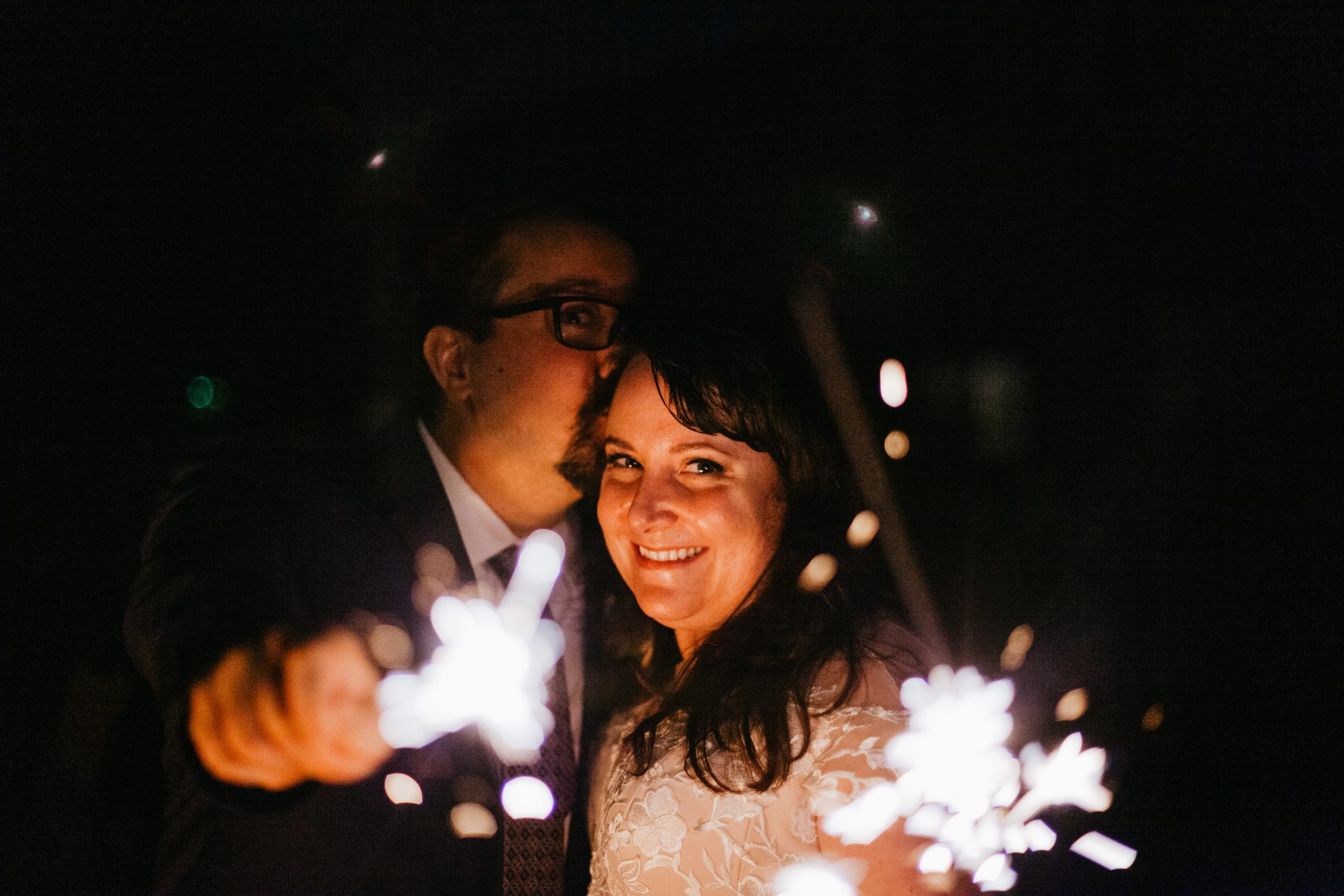 Sparkler Exit - Backyard Wedding Ottawa