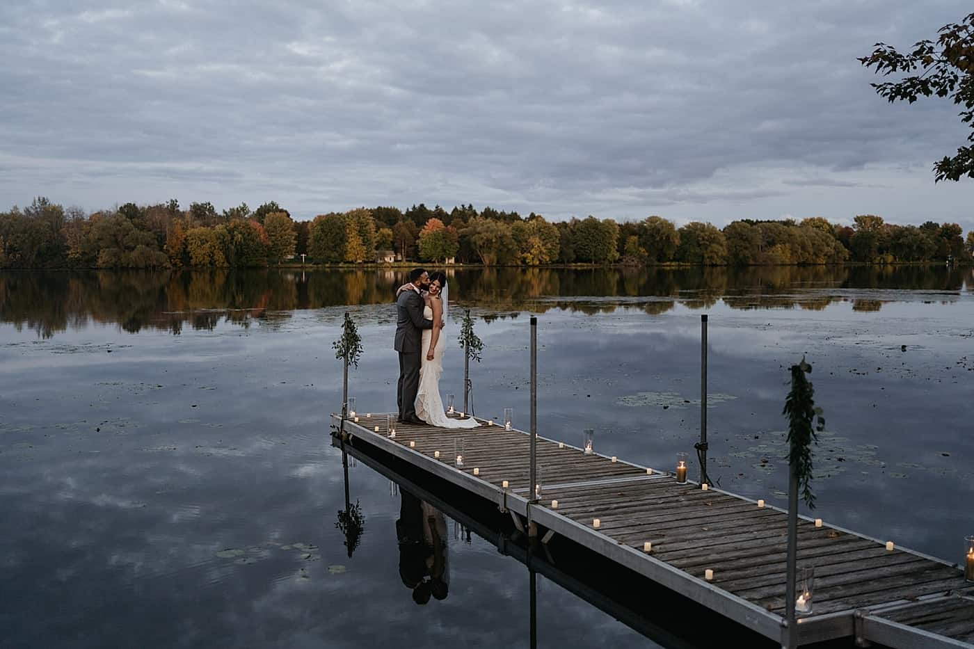 Backyard Outdoor Fall Elopement in the Ottawa Valley
